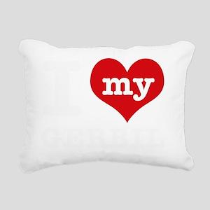 I Love My Gerbil Pet Des Rectangular Canvas Pillow