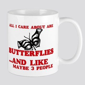 All I care about are Butterflies Mugs