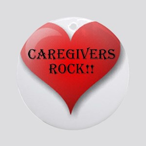 Caregivers Rock Round Ornament