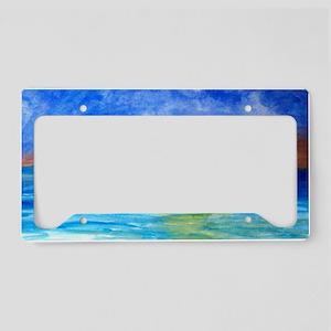 Ocean Beach Sunset License Plate Holder