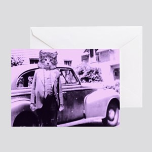 The Cat driver Greeting Card