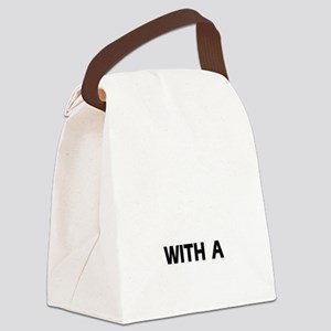 Life is better with a Havanese Canvas Lunch Bag