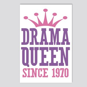 Drama Queen Since 1970 Postcards (Package of 8)