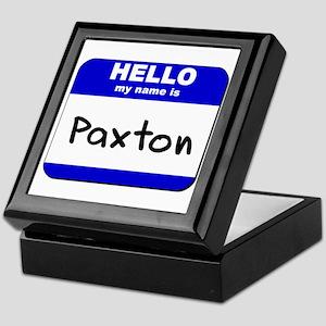 hello my name is paxton Keepsake Box