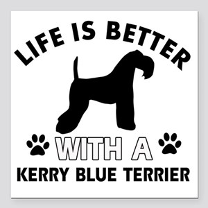 """Life is better with a Ke Square Car Magnet 3"""" x 3"""""""