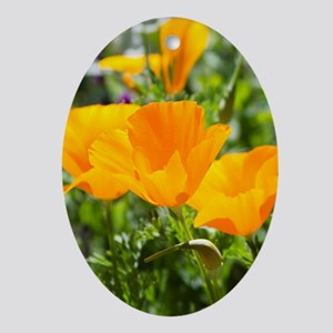 California Poppies in the Garden Oval Ornament