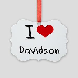 I Love Davidson Picture Ornament