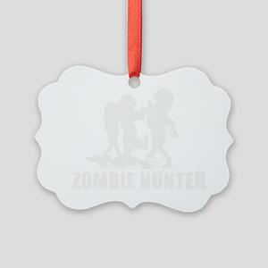 Zombie Hunter Picture Ornament