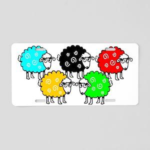 CG Sheep Logo Aluminum License Plate