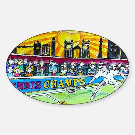 Tennis Champ Sticker (Oval)