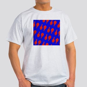 Red Blue Tennis Racquet Menagerie Light T-Shirt