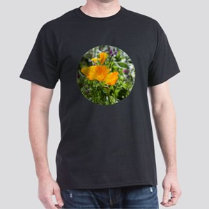 California Poppies in the Garden Dark T-Shirt