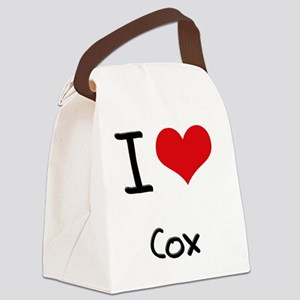 I Love Cox Canvas Lunch Bag