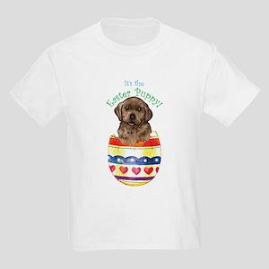 Easter Chocolate Lab Kids Light T-Shirt