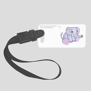 fibro elephant Small Luggage Tag
