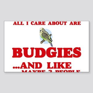 All I care about are Budgies Sticker