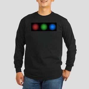abstract rgb lights Long Sleeve T-Shirt