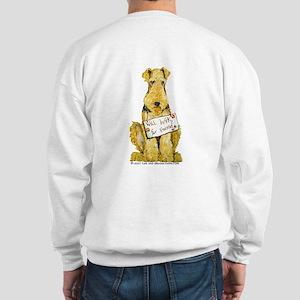 Airedale Terrier Bark for Food Sweatshirt