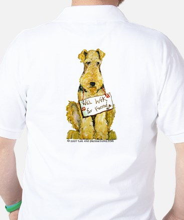 Airedale Terrier Bark for Food Golf Shirt
