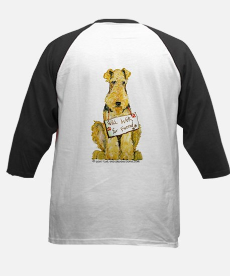 Airedale Terrier Bark for Food Kids Baseball Jerse
