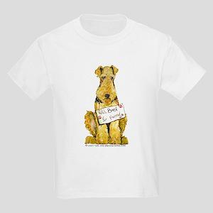 Airedale Terrier Bark for Food Kids Light T-Shirt