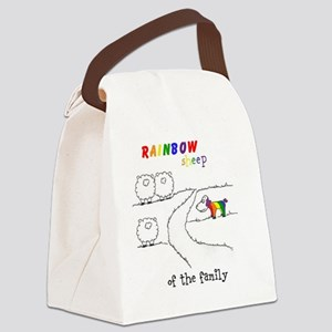 Rainbow Sheep of the Family Canvas Lunch Bag