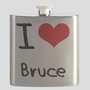 I Love Bruce Flask