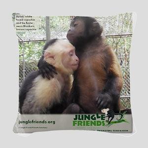 Monkey Love Woven Throw Pillow