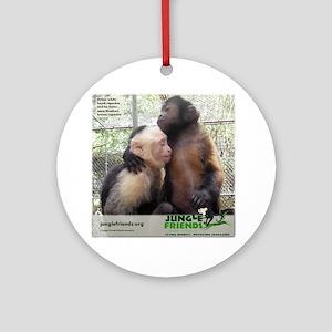 Monkey Love Round Ornament