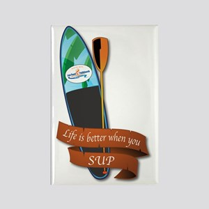 LIFE IS BETTER WHEN YOU SUP Rectangle Magnet
