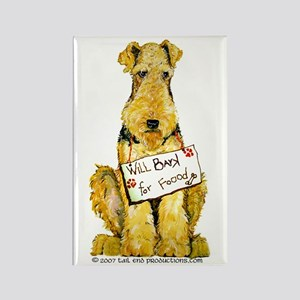 Airedale Terrier Bark for Food Rectangle Magnet