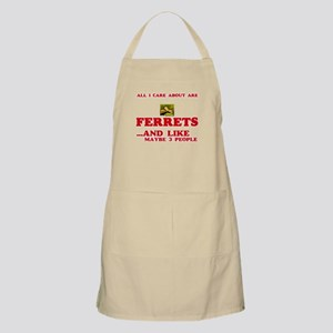 All I care about are Ferrets Light Apron