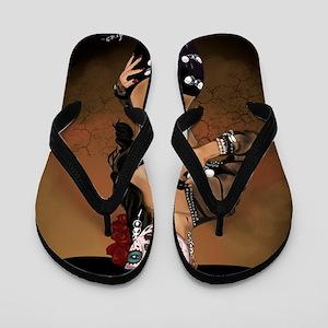 Mariachi Pin-up Art Flip Flops