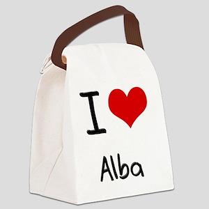I Love Alba Canvas Lunch Bag