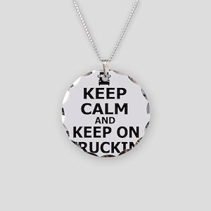 Keep on Truckin' Necklace Circle Charm