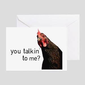 Funny Attitude Chicken Greeting Card