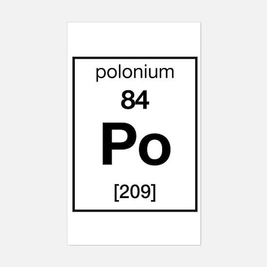 Polonium Rectangle Decal