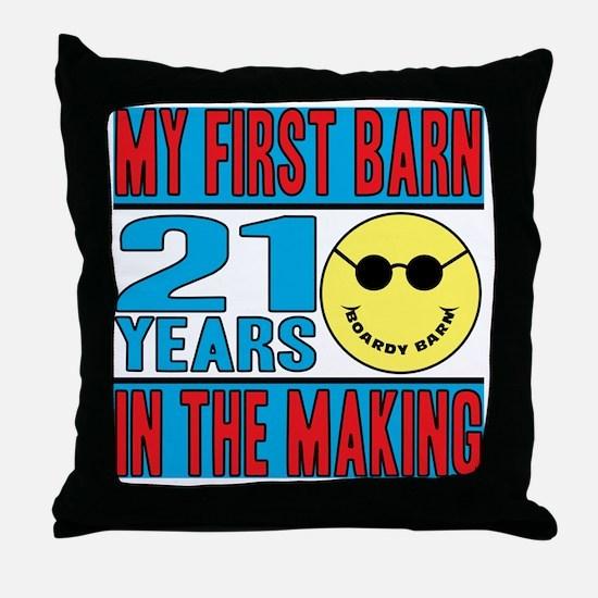 BOARDY BARN BIRTHDAY Throw Pillow
