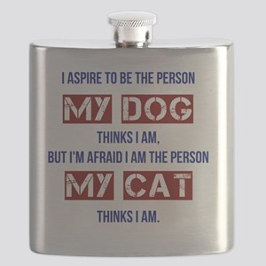 Who My Cat Thinks I Am Flask