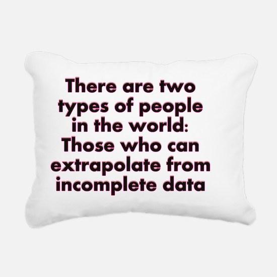 Extrapolate This... Rectangular Canvas Pillow