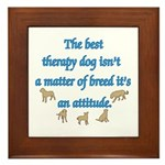 Best Therapy Dog Framed Tile