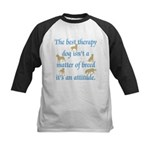 Best Therapy Dog Kids Baseball Jersey