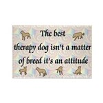 Best Therapy Dog Rectangle Magnet