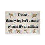 Best Therapy Dog Rectangle Magnet (100 pack)