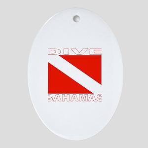 Dive Bahamas Oval Ornament