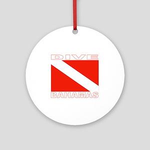 Dive Bahamas Ornament (Round)