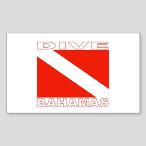 Dive Bahamas Rectangle Sticker