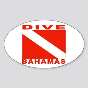 Dive Bahamas Oval Sticker