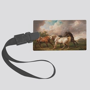 The Meeting of the Horses Large Luggage Tag