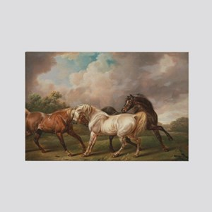 The Meeting of the Horses Rectangle Magnet